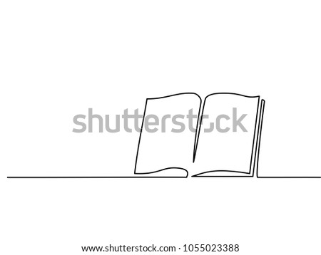opened book with pages isolated