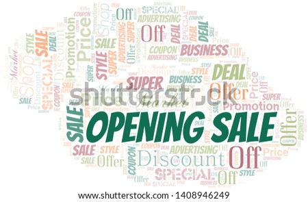 Opening Sale Word Cloud. Word cloud Made With Text.