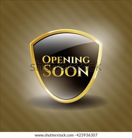 Opening Soon golden badge