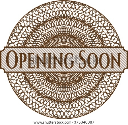 Opening Soon money style rosette