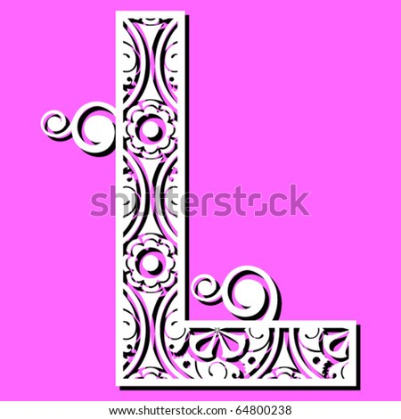 L Alphabet Letter Openwork Alphabet  Letter L