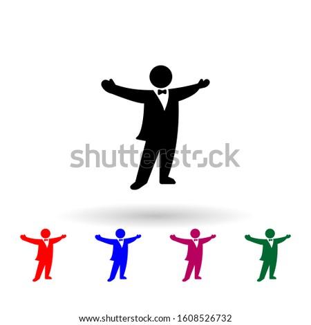 opera singer multi color icon