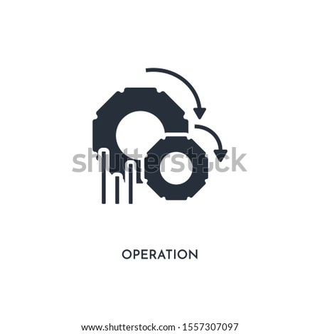 operation icon. simple element illustration. isolated trendy filled operation icon on white background. can be used for web, mobile, ui.