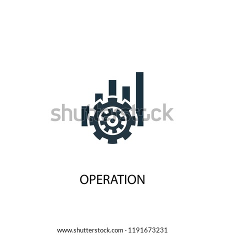 operation icon. Simple element illustration. operation concept symbol design. Can be used for web and mobile.