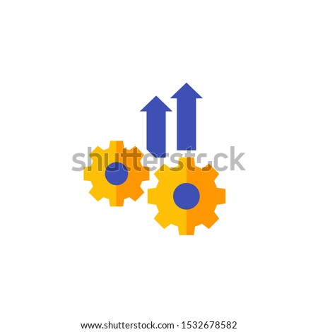 Operational excellence, efficiency icon, flat vector