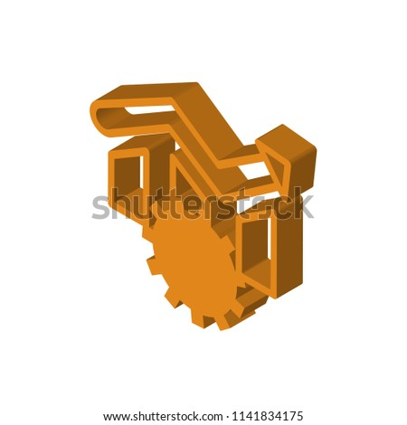 operational excellence isometric right top view 3D icon