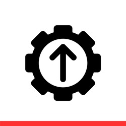 Operational excellence vector icon, achieve symbol. Simple, flat design for web or mobile app