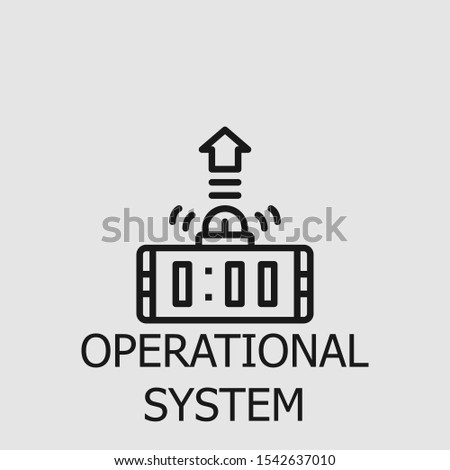Operational system outline icon for web, mobile apps, games and etc. Vector operational system illustration.
