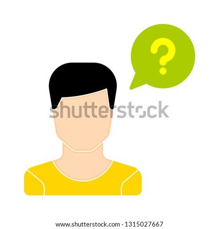 operator ask icon - operator ask isolated , customer service illustration - Vector operator