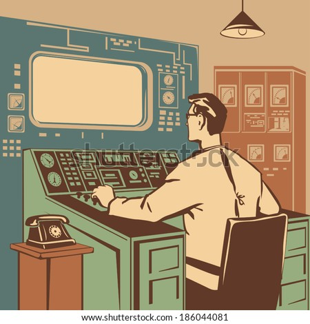 operator controlling the...