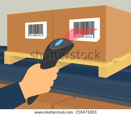 operator hand holds scanner