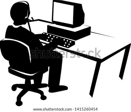 operator search icon - operator search isolated , customer service illustration - Vector operator