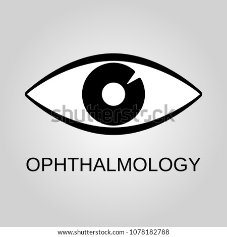 Ophthalmology icon. Ophthalmology symbol. Flat design. Stock - Vector illustration