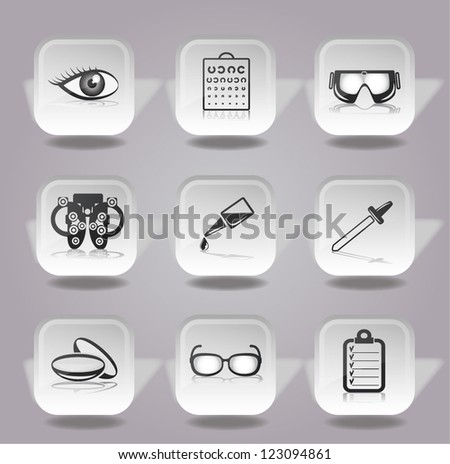 ophthalmology icons set.