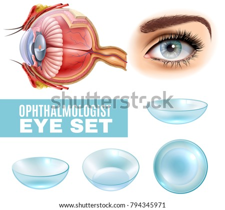 ophthalmology realistic set of
