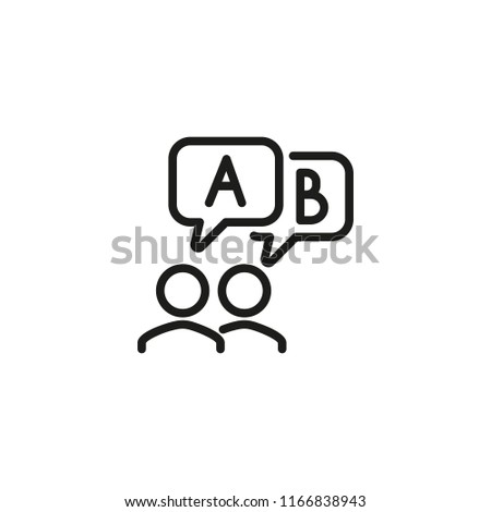 Opinion line icon. Forum, feedback, comment. Survey concept. Vector illustration can be used for topics like business, communication, internet