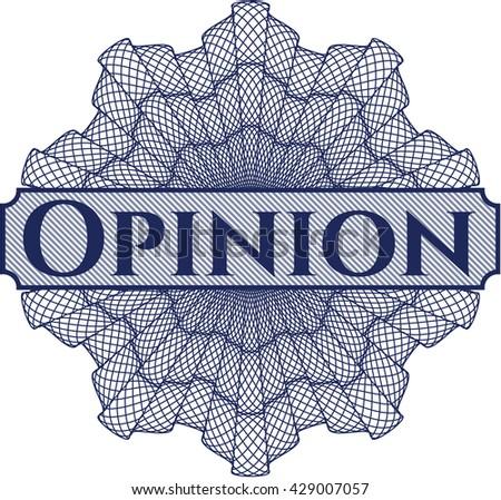 Opinion written inside abstract linear rosette