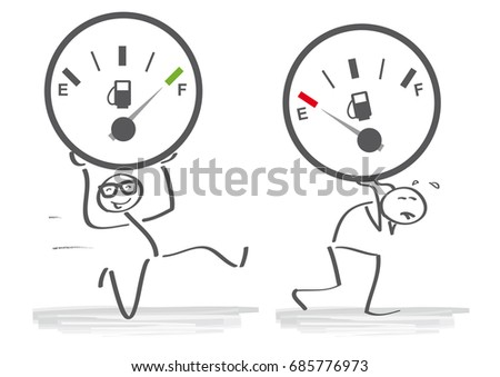 Shutterstock Opposite adjective with strong and weak illustration