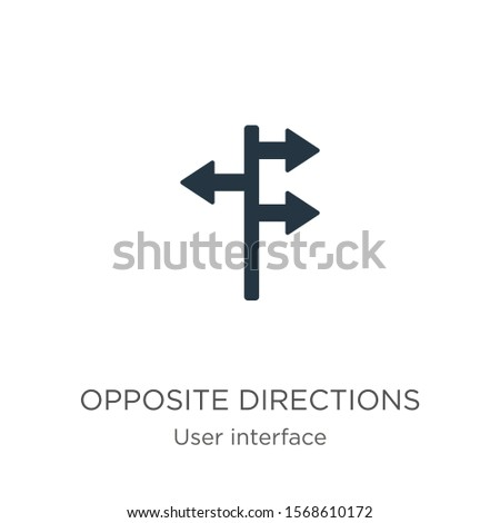 Opposite directions icon vector. Trendy flat opposite directions icon from user interface collection isolated on white background. Vector illustration can be used for web and mobile graphic design,