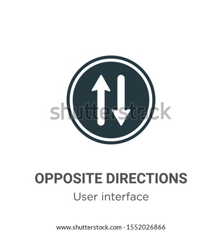 Opposite directions vector icon on white background. Flat vector opposite directions icon symbol sign from modern user interface collection for mobile concept and web apps design.