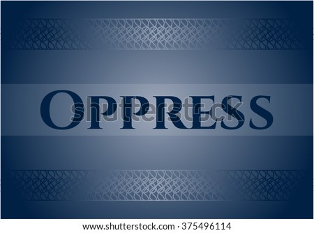 Oppress card with nice design