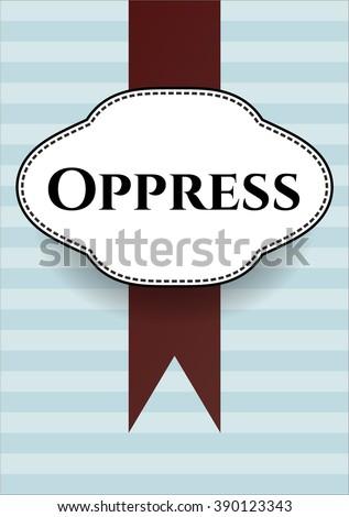Oppress colorful banner