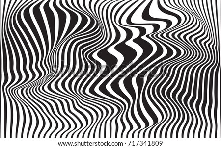 Optical Art Designs : Free black and white geometric pattern vector download
