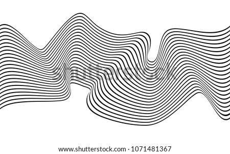 optical art wave abstract
