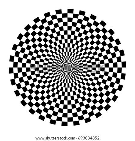 optical circle circular op art
