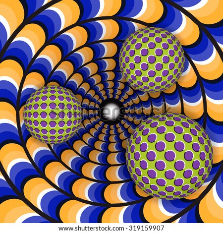 optical illusion of rotation of