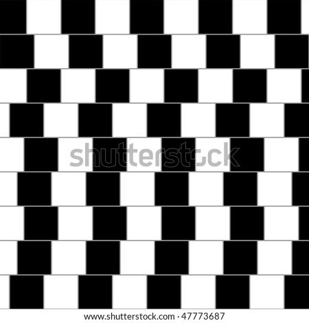 Optical illusion: parallel lines