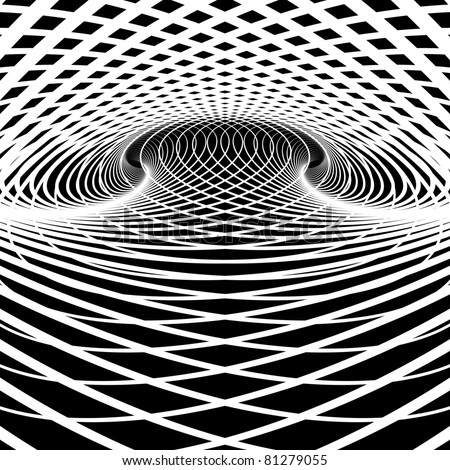 Optical illusion vector background. Op art.
