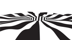 Optical illusion wave. Used for materials or graphic source. Abstract 3d black and white illusions. Vector illustration.