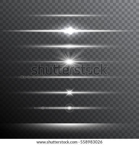 Optical lens flare light effects. Vector illustration