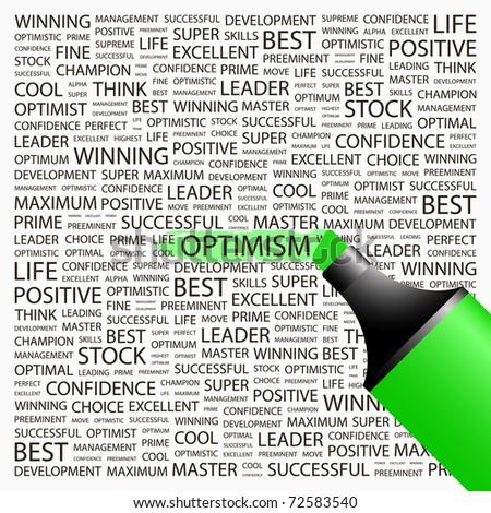 optimism highlighter over
