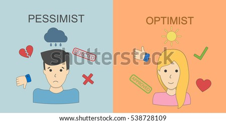 optimist and pessimist concept