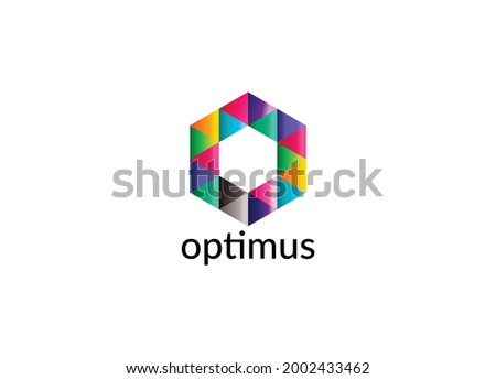 Optimus Abstract O letter modern initial colorful logo design Zdjęcia stock ©