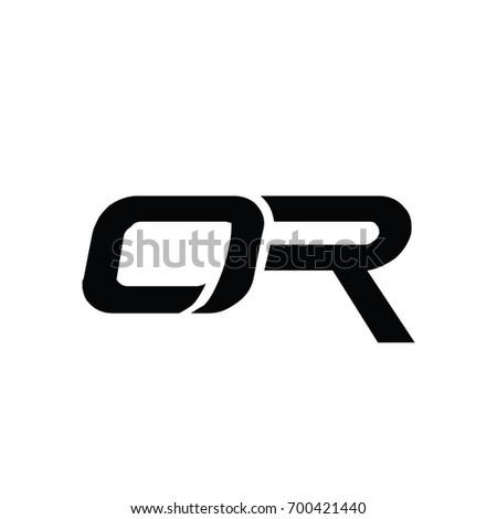OR logo alphabet modern style.  Foto stock ©