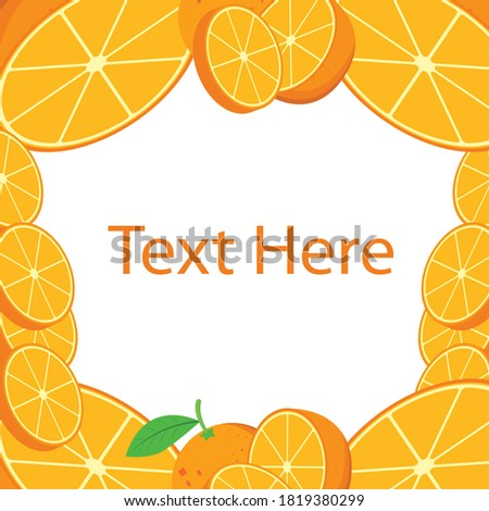 Orang fruit. Oranges that are segmented on a white Orange whole and slices of oranges. Vector illustration of oranges. 3d realistic vector set of elements ( whole orange, sliced orange