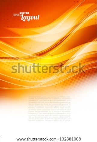 Orange abstract background. Vector