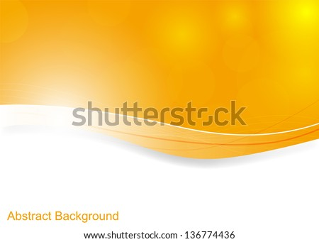 Orange abstract background with space for your text (Vector illustration))