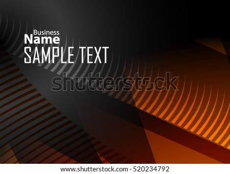stock-vector-orange-abstract-template-for-card-or-banner-metal-background-with-waves-and-reflections-business