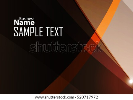 Orange abstract template for card or banner. Metal Background with waves and reflections. Business background, silver, illustration. Illustration of abstract background with a metallic element #520717972