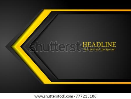stock-vector-orange-and-black-contrast-tech-arrows-background-vector-corporate-design