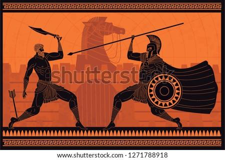 orange and black figures