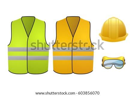 orange and green safety vests