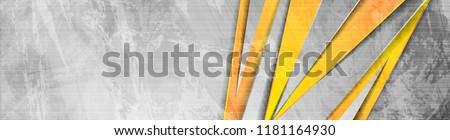 Orange and grey abstract grunge corporate banner header design. Vector background