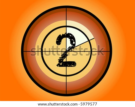 Orange and Red Circle Countdown at No 2 - (Vector Format)