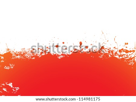 Orange Splat Design Orange And Red Ink Splat