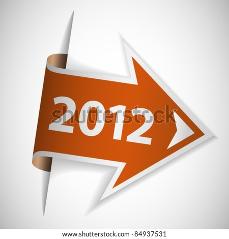 Orange arrow with year 2012